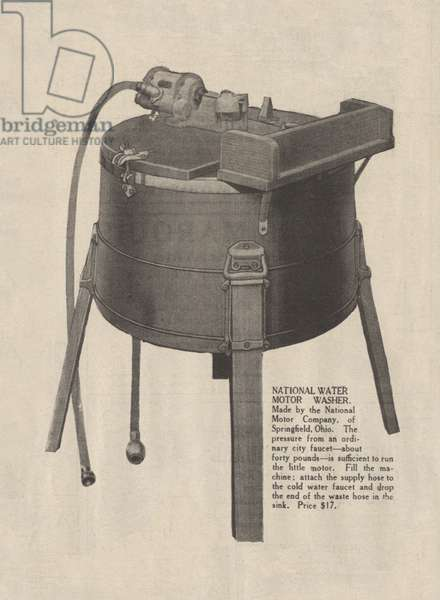 Washing Machine. An early electric washing machine advertisment, 1916