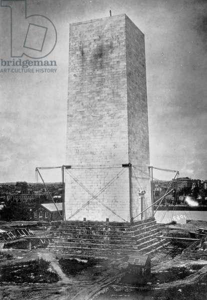Washington Monument. The Washington Monument under construction, ca 1860s