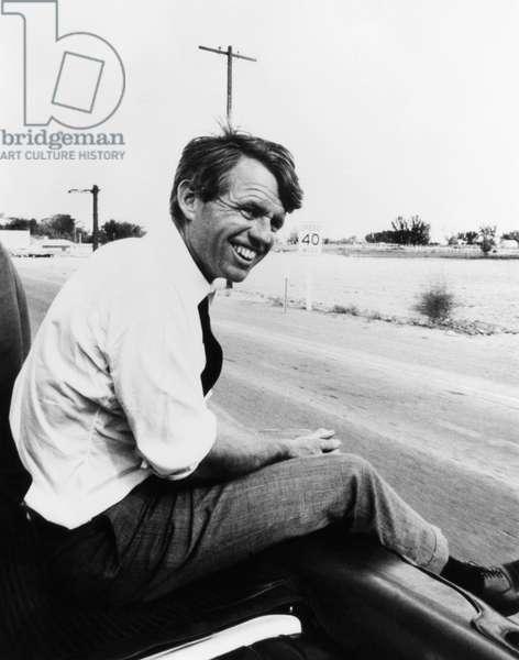 Senator Robert F. Kennedy, during his 1968 run for the Presidency