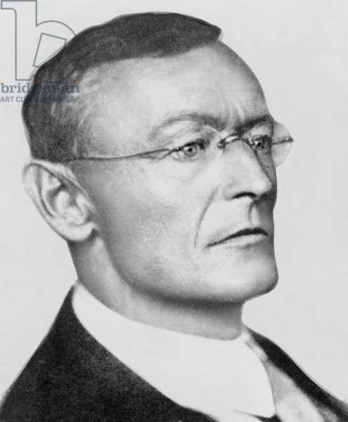 Hermann Hesse (1877-1962) German novelist, poet, and winner of the Nobel Prize for Literature in 1946