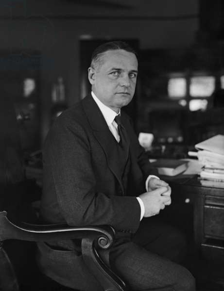 William 'Wild Bill' Donovan (1883-1959), as an Assistant Attorney General under A. Mitchell Palmer. He developed his 'spying' portfolio in the 1920s and 1930s, a lead the OSS (Office of Strategic Services) during the Second World War