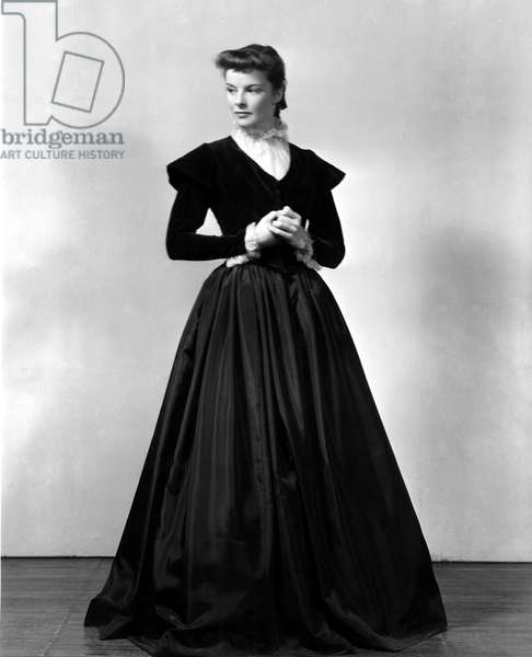 Katharine Hepburn in costume for the stage production of JANE EYRE in the 1930s