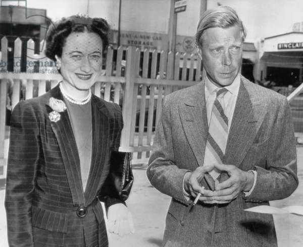 Duchess of Windsor Wallis Simpson and Prince Edward, Duke of Windsor in Miami Florida, 1943