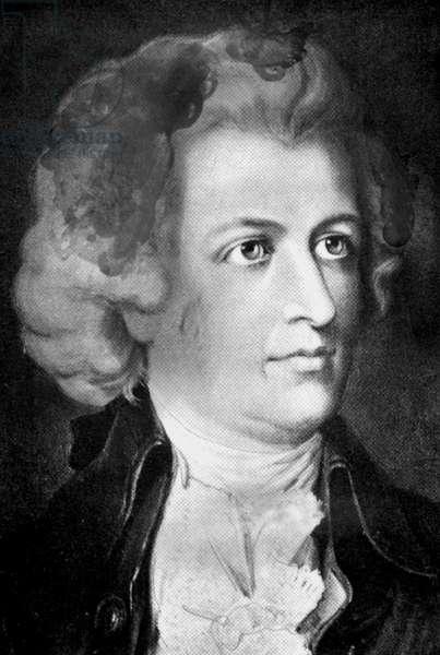 Wolfgang Amadeus Mozart, composer, 1756-1791.