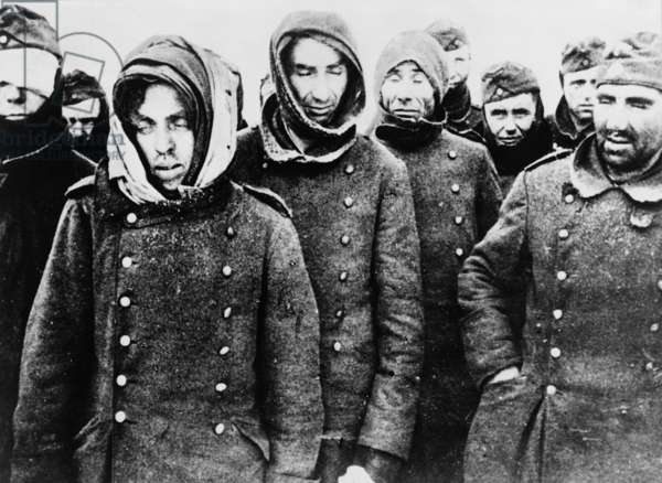 German prisoners, among the 90,000 taken by the Soviets at the end of the Battle of Stalingrad in February 1943