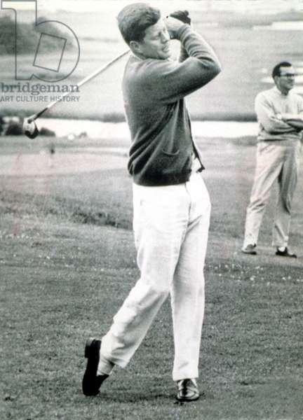 JOHN F. KENNEDY, President vacationing at Hyannisport, 7/23/63