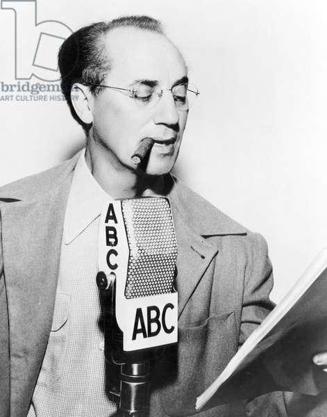 American comedian Groucho Marx, (1890-1977), c. 1947.