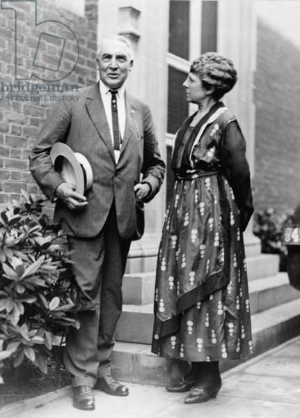President Warren Harding with First Lady Florence Kling Harding in 1920