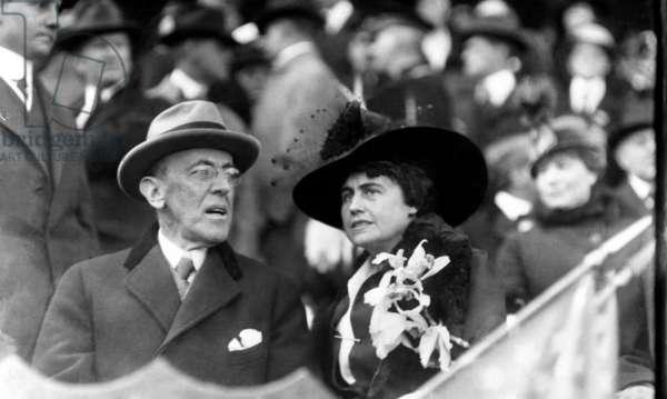 President Woodrow Wilson, and First Lady Edith Wilson, c.1915