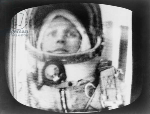 Valentina Vladimirovna (b.1937), during her fifth Earth orbit on June 16, 1963. During her flight, another Soviet space craft flew within 3 miles of her capsule, anticipating spaceship dockings