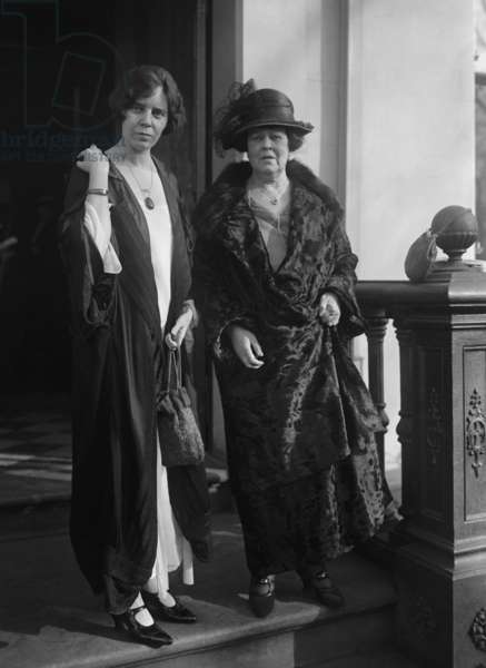 Alice Paul and Alva Vanderbilt Belmont in Washington, D.C. Nov. 17, 1923. Belmont was President of the National Woman's Party and a major benefactor the NWP. Paul was a top leader in the NWP and the author of a proposed Equal Rights Amendment in 1923