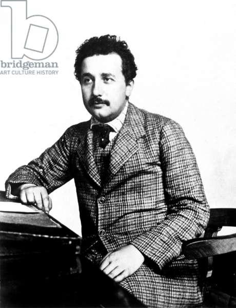 ALBERT EINSTEIN at the Swiss Patent Office, c. 1902