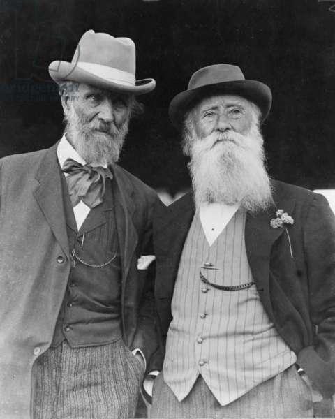 John Burroughs (1837-1921) on his 75th birthday, and fellow naturalist, John Muir (1837-1914) in 1912 photo