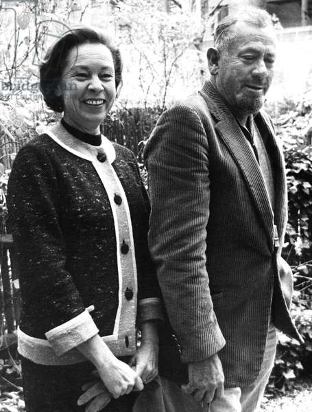JOHN STEINBECK, with wife Elaine c. 1962