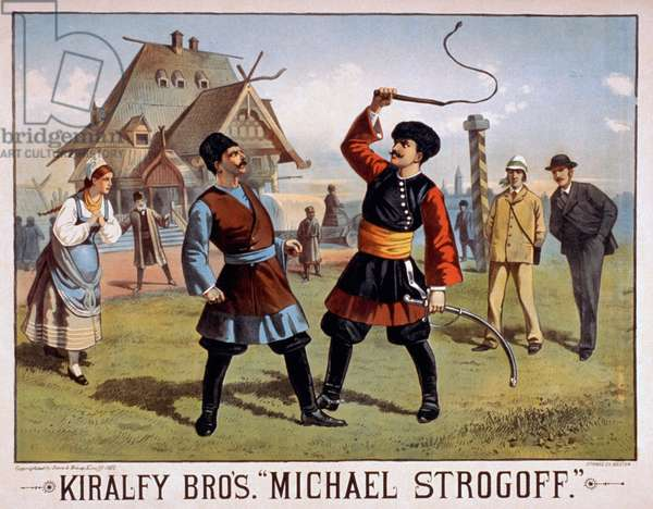 Kiralfy Bros'. ''Michael Strogoff''. The Courier of the Czar, 1882 (poster)
