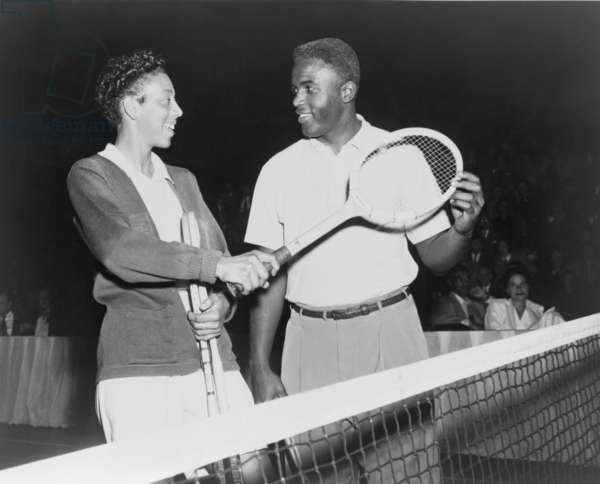 Althea Gibson (1927-2003) and Jackie Robinson (1919-1972), were the first African American champions of their sports to participate in fully integrated competition. Gibson won championships at Grand Slam tournaments, including Wimbledon and the United States Open. 1951