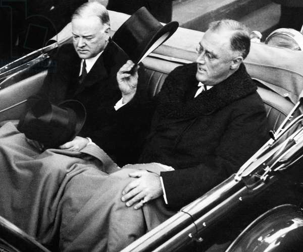 President Herbert Hoover, and President elect Franklin D. Roosevelt, c.March, 1933