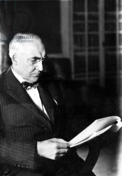 Warren G. Harding, 29th President of the United States (1921-1923). Photo dated 1921, Washington, D.C.