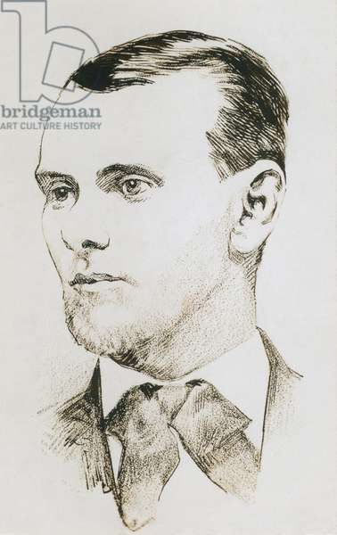 Jesse James (1847-1882), American robber and outlaw. Drawing made from a photograph