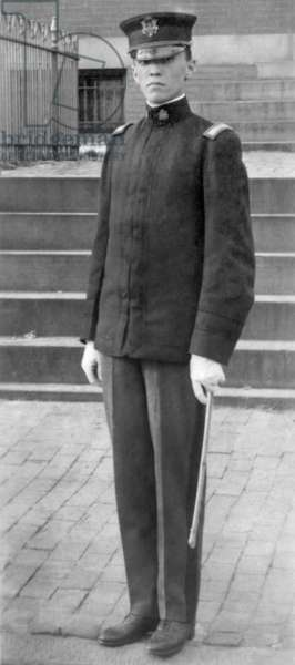 J. Edgar Hoover joined his high school Reserve Officers' Training Corps program. c. 1914.