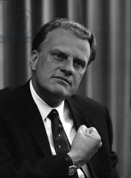 Billy Graham was a prominent Christian evangelist. His middle of the road politics fostered his visits to many sitting US presidents from Harry S. Truman to Barack Obama. April 11, 1966
