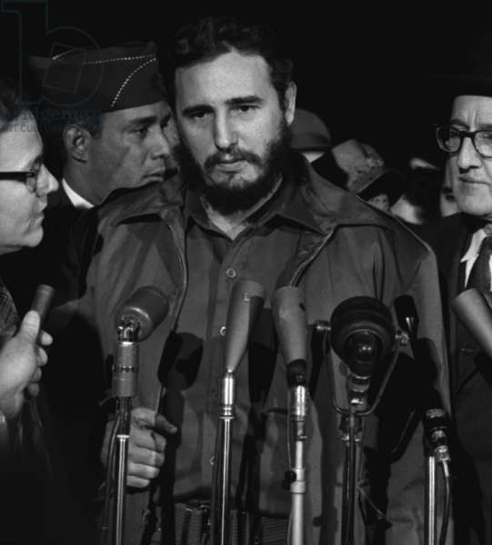 Fidel Castro arrives MATS terminal, Washington D.C., by Warren K. Leffler, April 15, 1958