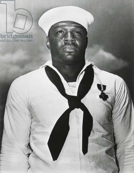 Doris 'Dorie' Miller was awarded the Navy Cross for heroism during attack on Pearl Harbor. He was one of the first heroes of World War 2 for saving the lives of fellow sailors on the USS West Virginia and defending the ship with anti-aircraft guns. May 27, 1942