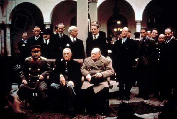 WWII: Josef Stalin, Franklin Delano Roosevelt, and Winston Churchill, c. 1944