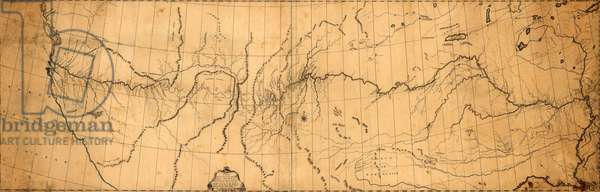 1807 map of the discoveries of Capt. Lewis & Clark including the Rocky Mountain and the Columbia River at the north Pacific Ocean