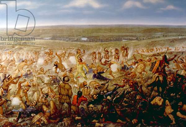 Custer's Last Stand, General George Armstrong Custer at the Battle of Little Bighorn, 1876