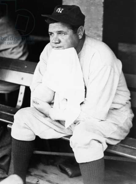 New York Yankees. Outfielder Babe Ruth, c.1920s