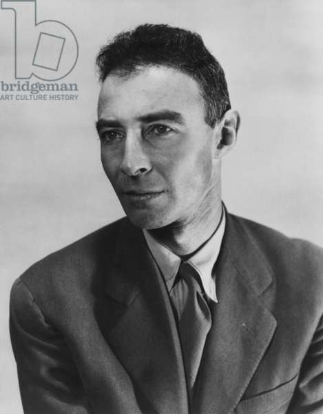 Robert Oppenheimer, atomic physicist and head the Manhattan project's secret weapons laboratory. c. 1940-45
