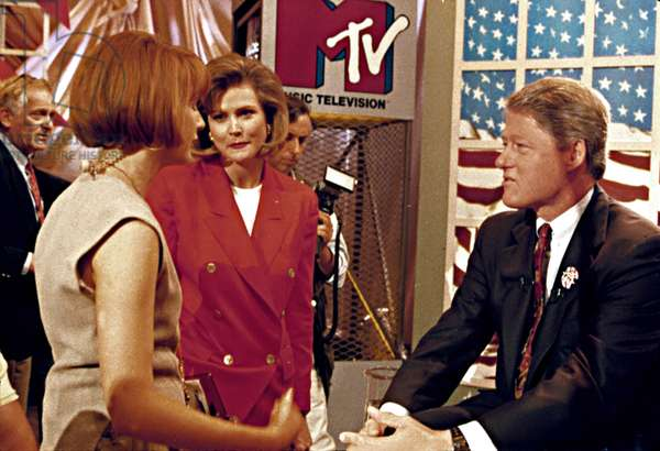 BILL CLINTON, being interviewed by TABITHA SOREN, for MTV, (6/92)