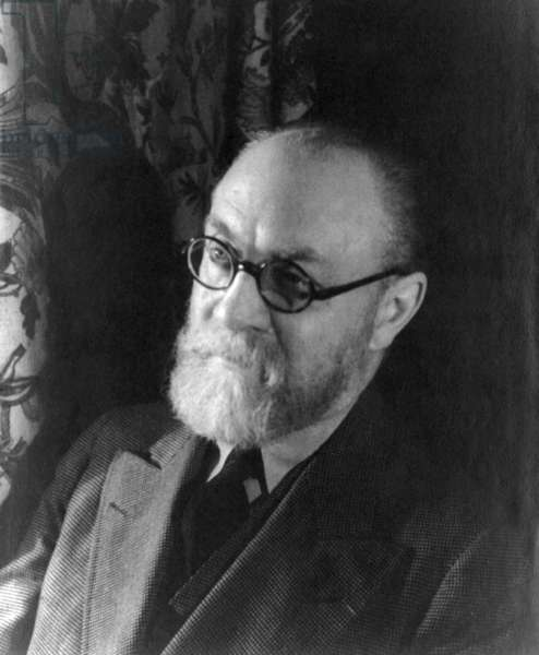 Henri Matisse (1869-1954), French painter, one of the most important modern artists, created the foundations of 20th century color expression and abstraction. 1933 portrait by Carl Van Vechten