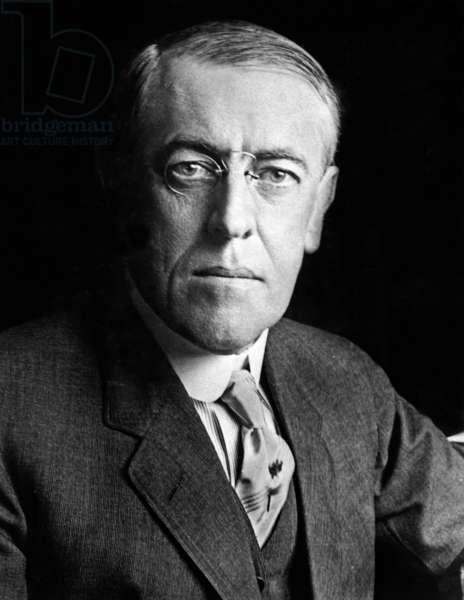 Woodrow Wilson: President Woodrow Wilson (1856-1924) in 1916 portrait.