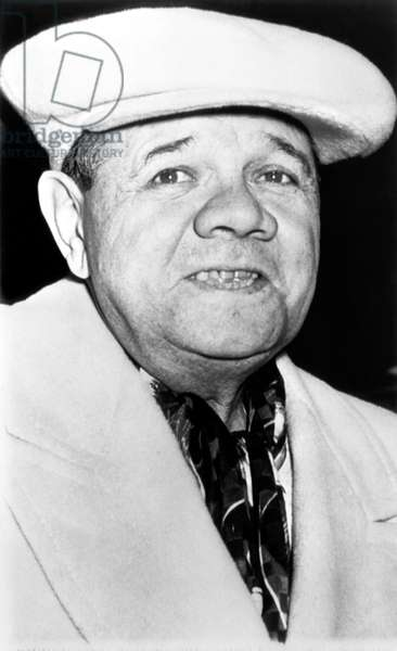 New York Yankees. Retired outfielder Babe Ruth, Penn Station, New York City, New York, 1948