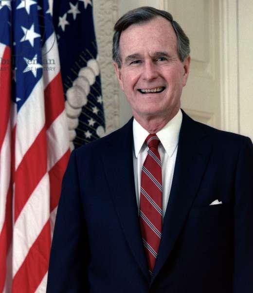 George H. W. Bush, Official White House Portrait. 1989
