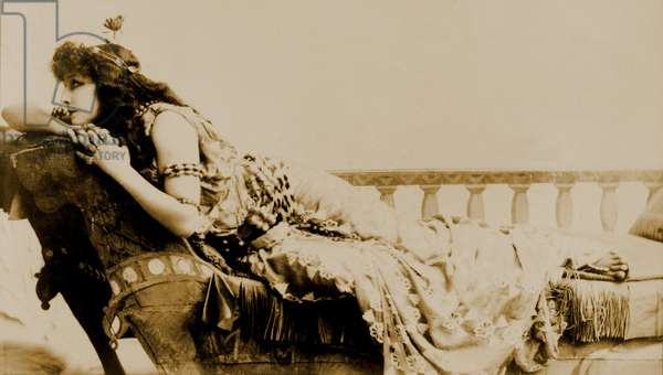 Sarah Bernhardt (1844-1923), French, actress in the role of Cleopatra. c. 1891
