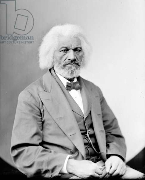Frederick Douglass (1818-1895), African Americam abolitionist, writer and statesman, c.1870s