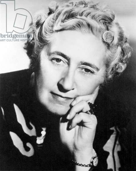 Agatha Christie (1890-1976) British mystery writer in the mid-1950s. Photo by Walter Bird