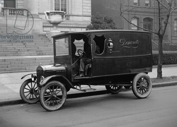 Ford Motel T truck making deliveries in Washington, D.C. 1923
