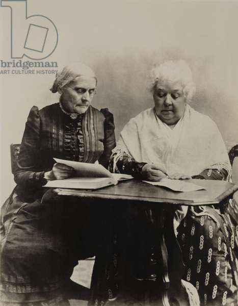 Susan B. Anthony and Elizabeth Cady Stanton were the two great leaders of the 19th century American Women's Suffrage and Equal Rights cause. c. 1891