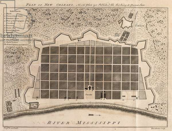 Plan of New Orleans, 1770
