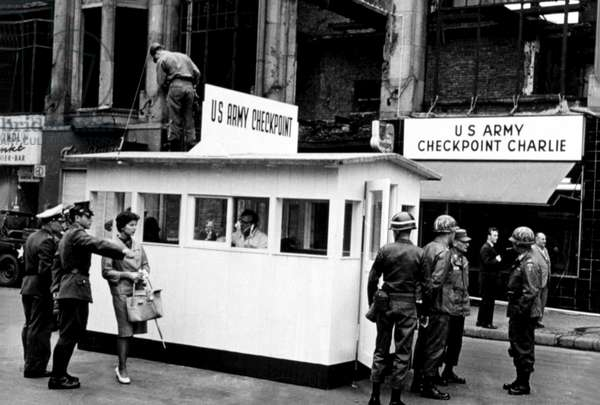 Checkpoint Charlie at the Berlin wall, 9/27/67