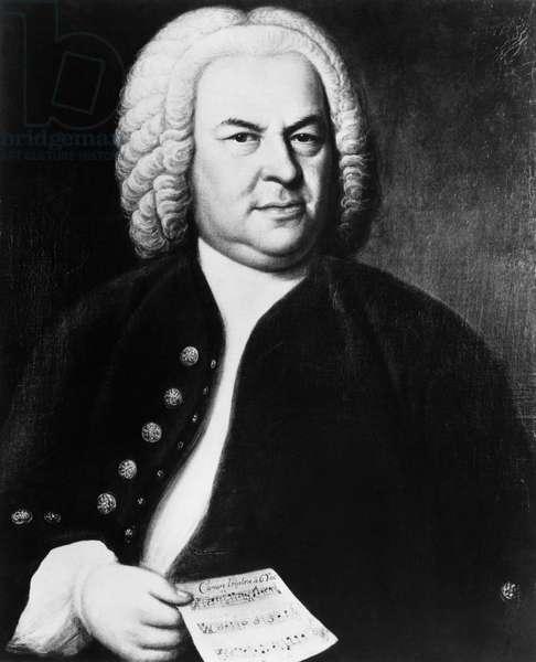 Johann Sebastian Bach (1685-1750), German composer, portrait by Elias Gottlieb Haussmann, c.1746