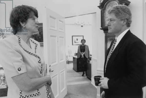President Bill Clinton and Attorney General Janet Reno. Her most controversial action was authorization the FBI assault on the Branch Davidians in Waco, Texas, resulting in 76 deaths