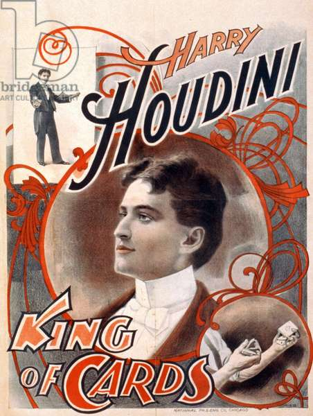 Harry Houdini, King of Cards poster, c.1895