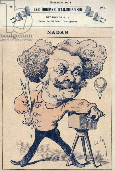 Nadar, caricature of photographer Nadar, (aka Gaspard-Felix Tournachon), c.1878