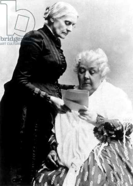 Susan B. Anthony & Elizabeth Cady Stanton, around 1892