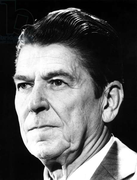 Ronald Reagan at a Chicago press conference, 5/13/75